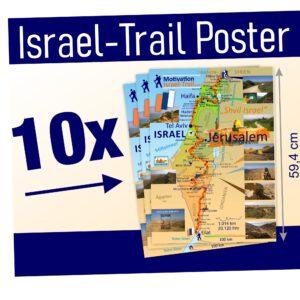 Israel Trail Poster, Landkarte