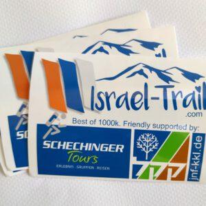 3x Aukleber Irsael-Trail, Best of 1000k, Souvenir-Aufkleber