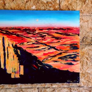 Beautiful Negev Israel-Gemälde auf Leinwand 100x80cm