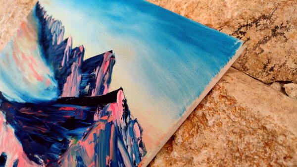 Mount Karbolet Sunrise Israel-Gemälde auf Leinwand/ Israel Painting on Canvas