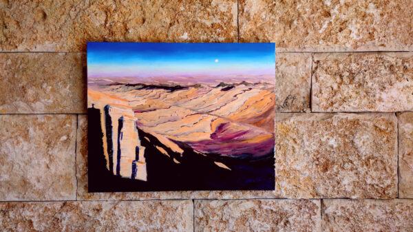 Israelgemälde in der Wüste Negev, oil painting israel