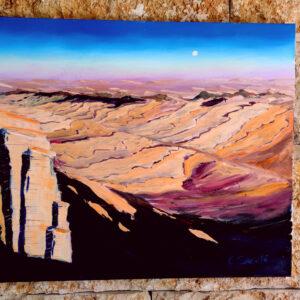 Wüste Negev Israel-Gemälde auf Leinwand 100×80 cm