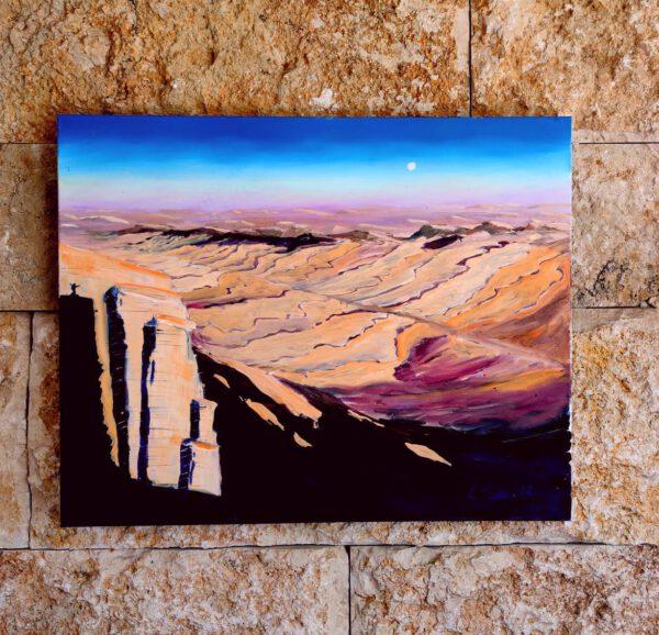 Negev oil painting seebauer
