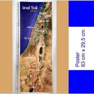 Israel Poster SCM Buch Israel Trail mit Herz