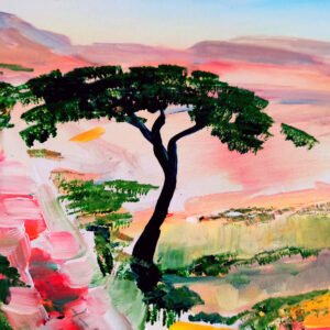 Nahal Zofar Israel-Gemälde auf Leinwand 80 x 60 cm
