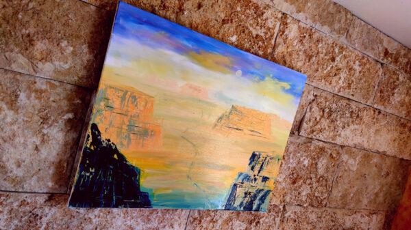 Gemälde Israel Wüste Negev, Ölfarben auf Leinwand