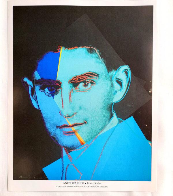 Andy Warhol - Franz Kafka - (c) the Andy Warhol Foundation for The Visual Arts, Inc., Kunstposter mit Spnede für gemeinnütziges Engagement, mit freudlicher Genehmigung der AKIM e.V.