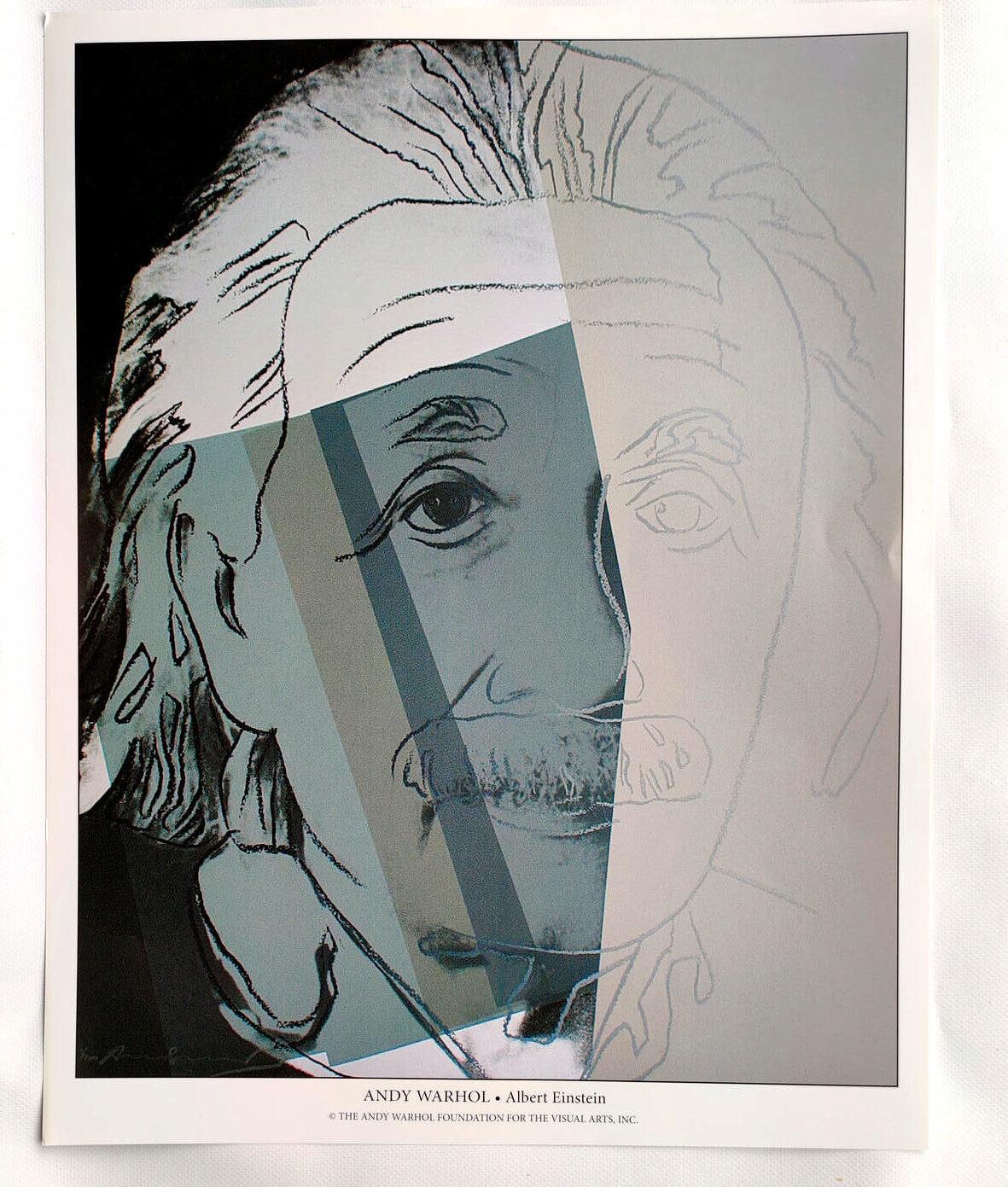 Andy Warhol - Albert Einstein - (c) the Andy Warhol Foundation for The Visual Arts, Inc., Kunstposter mit Spnede für gemeinnütziges Engagement, mit freundlicher Genehmigung der AKIM e.V.