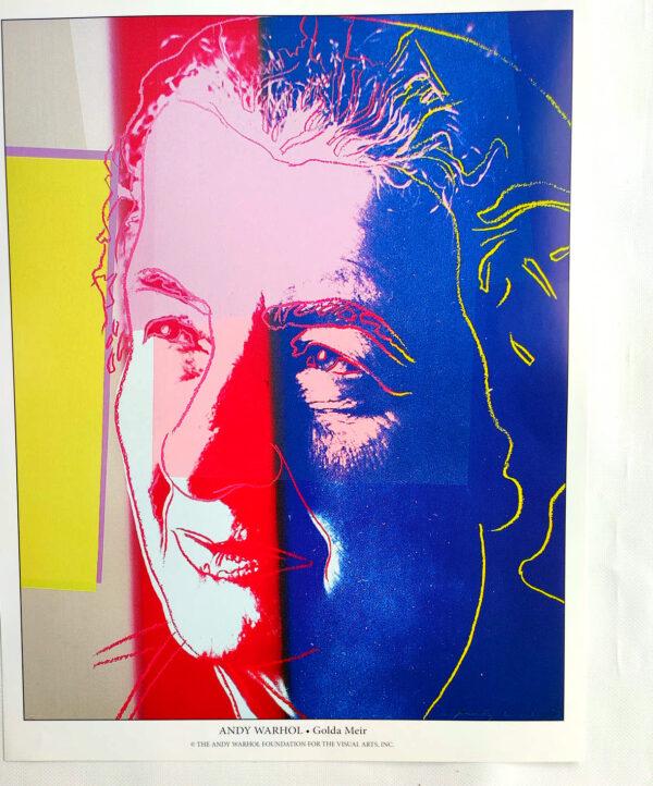 Andy Warhol - Golda Meir - (c) the Andy Warhol Foundation for The Visual Arts, Inc., Kunstposter mit Spnede für gemeinnütziges Engagement, mit freudlicher Genehmigung der AKIM e.V.