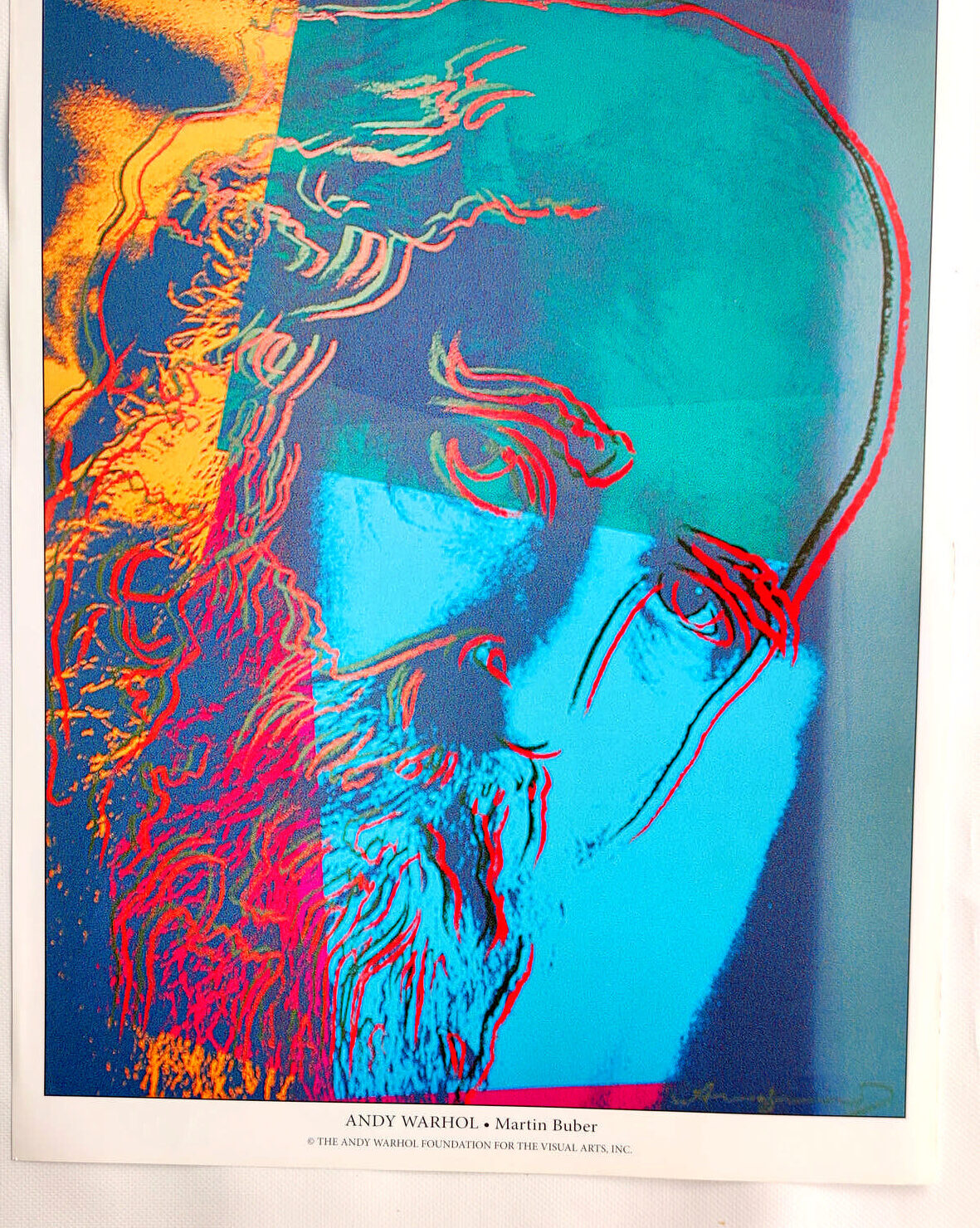 Andy Warhol - Martin Buber - (c) the Andy Warhol Foundation for The Visual Arts, Inc., Kunstposter mit Spnede für gemeinnütziges Engagement, mit freundlicher Genehmigung der AKIM e.V.