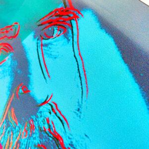 Andy Warhol – Martin Buber – Kunstdruck-Poster ca. 41×53 cm (Gebrauchsspuren)