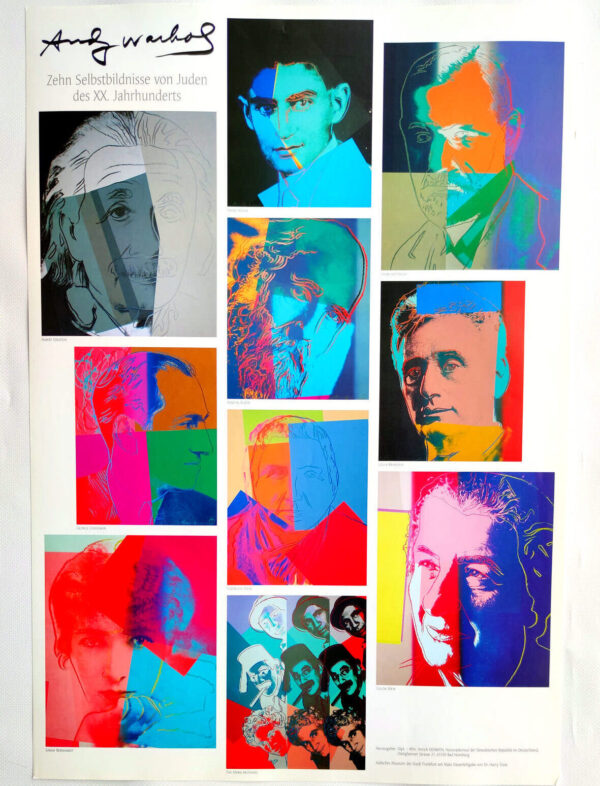 Zehn Selbstbildnisse von Juden des XX. Jahrhunderts, Poster, (c) the Andy Warhol Foundation for The Visual Arts, Inc., Kunstposter mit Spnede für gemeinnütziges Engagement, mit freudlicher Genehmigung der AKIM e.V.