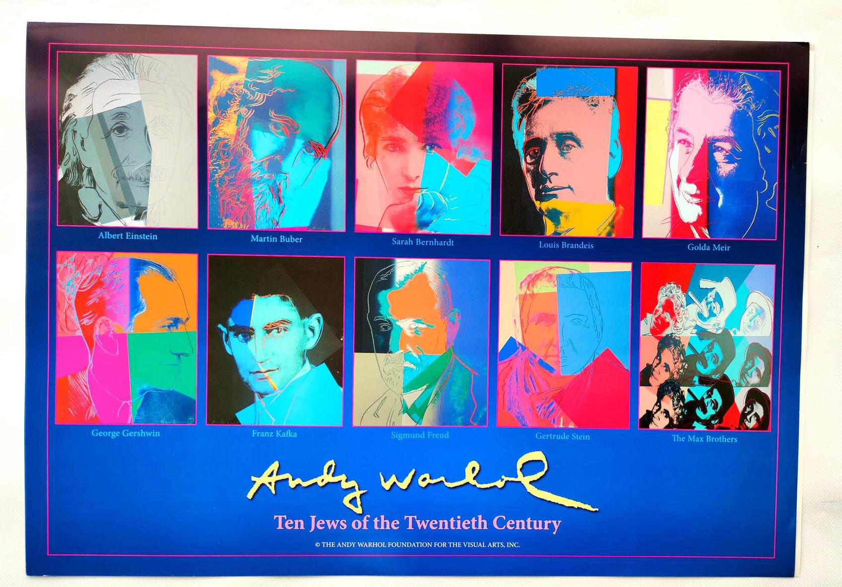 Zehn Selbstbildnisse von Juden des XX. Jahrhunderts, Poster, (c) the Andy Warhol Foundation for The Visual Arts, Inc., Kunstposter mit Spnede für gemeinnütziges Engagement, mit freundlicher Genehmigung der AKIM e.V.