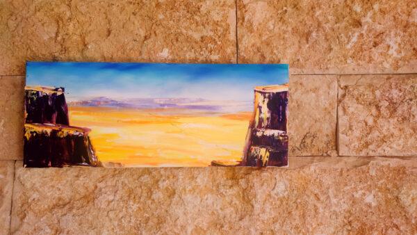 Ramon Makhtesh, Israel ÖlgGemälde auf Leinwand 100x40cm