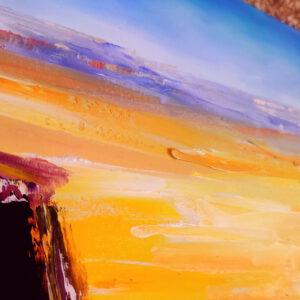 Ramon Makhtesh Israel-Ölgemälde auf Leinwand 100x40cm