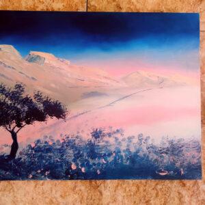Pink Negev Israel-Gemälde auf Leinwand 70x50cm