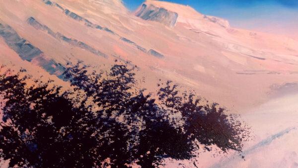 Pink Negev Israel-Gemälde auf Leinwand/ Israel Painting on Canvas