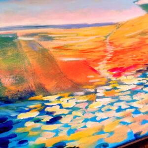 Israel: Nahal Hava Israel-Gemälde auf Leinwand 120 x 100 cm