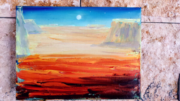 Wüste Negev/ Israel am Shvil Israel