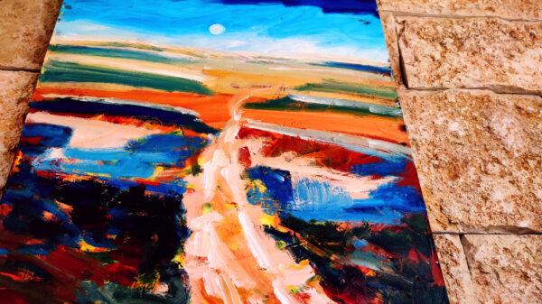 Shvil Israel Weh in der Wüste Negev/ Israel Ölgemälde