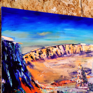 Ölgemälde Makthesh Katan Krater Israel 80 x 70 cm Ölfarben auf Leinwand