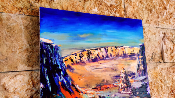 Small Crater Ramom HaMaktesh HaKatan in Israel Ölgemälde