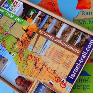 1x Israel National Trail Faltposter DIN A2 (mit Werbeeindruck)