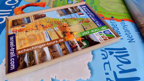 Israel-Landkarte Poster, Liebhaberstück, Restposten mit Werbeeindruck