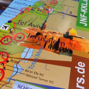 70x Israel Landkarte Poster – Ausstattung für Veranstaltungen