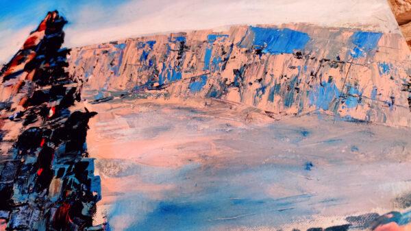 Small Crater Hamakhtesh Hakatan, Katan Krater am Israel National Trail Ölgemälde