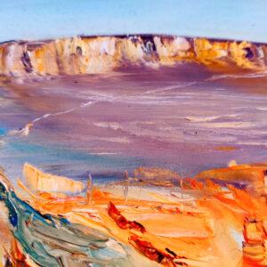 The Small Crater הַמַּכְתֵּשׁ הַקָּטָן Israel-Gemälde auf Leinwand 40 x 50 cm