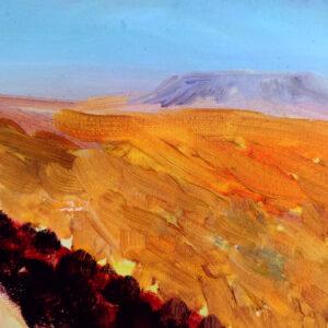 Shaharut Negev Israel-Gemälde auf Leinwand 50 x 40 cm