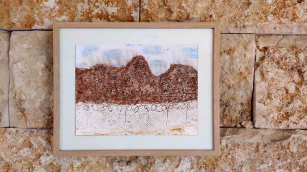 Kibbuz Neot Semadar Israel Gemälde von Kindern für den guten Zweck
