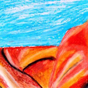 """Gemälde """"Die Negev vor der Tür"""" von Kindern im Kibbuz Neot Semadar für den guten Zweck"""