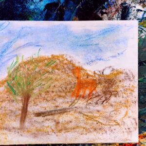 """Gemälde """"Leben in der Wüste"""" von Kindern im Kibbuz Neot Semadar für den guten Zweck"""