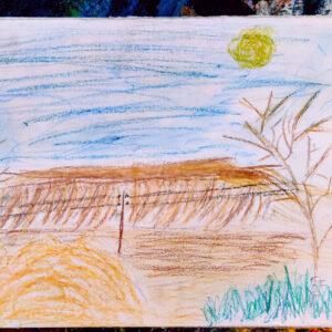 """Gemälde von Kindern im Kibbuz Neot Semadar für den guten Zweck """"Sonne"""""""
