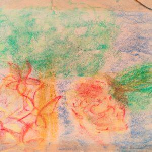 """Gemälde """"Wüstenblumen"""" von Kindern im Kibbuz Neot Semadar für den guten Zweck (Kopie)"""