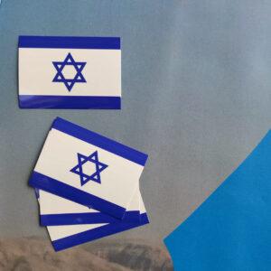 100x Wetterfeste Aufkleber Israel-Flagge 7,40 x 10,50 cm