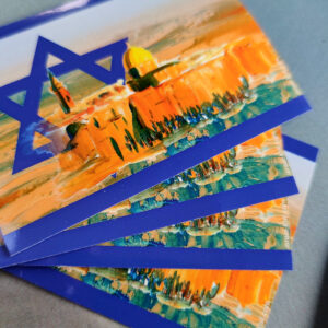 20x Wetterfeste Aufkleber Israel Negev Jerusalem 7,40 x 10,50 cm